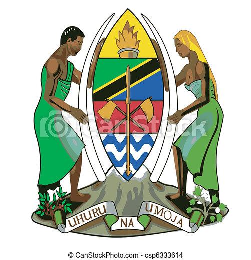 coat of arms of Tanzania - csp6333614