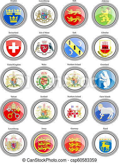 Coat of arms of the Europe. - csp60583359