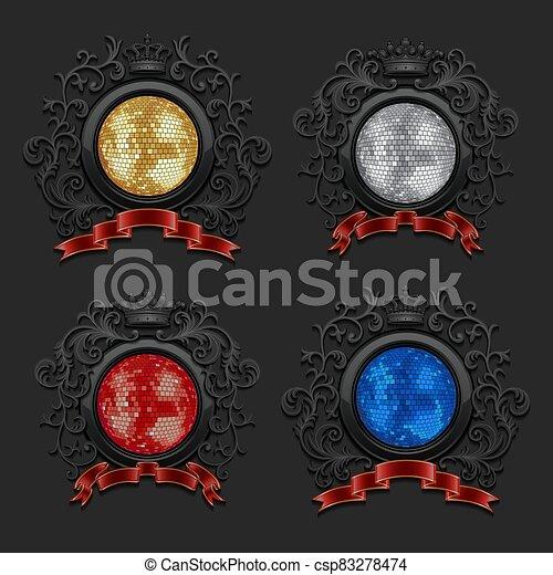 Coat of arms set - csp83278474