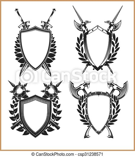 Coat Of Arms Template Vectors Illustration  Search Clipart