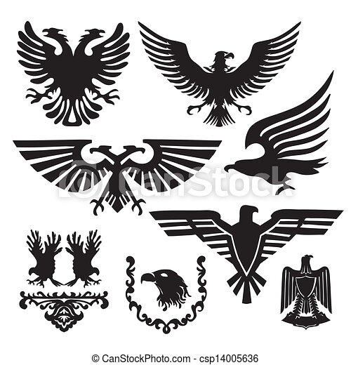 coat of arms with an eagle - csp14005636