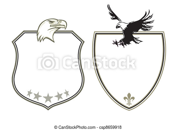 Coat of Arms with eagles - csp8659918
