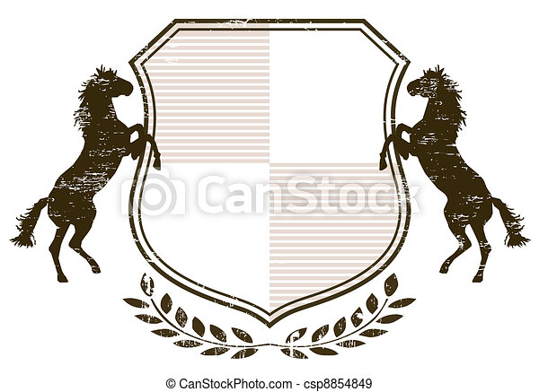 Coat of Arms with horses - csp8854849
