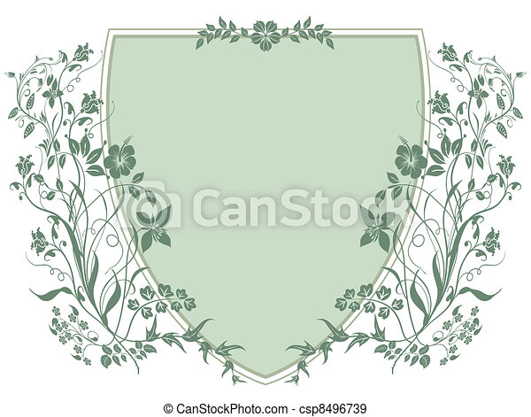 Coat of Arms with plants - csp8496739
