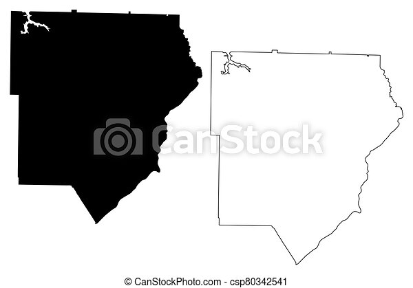 Cobb County, Georgia (U.S. county, United States of America, USA, U.S., US) map vector illustration, scribble sketch Cobb map - csp80342541