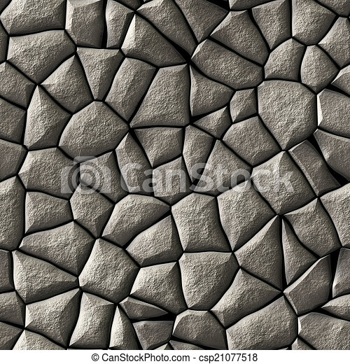 Cobble stones abstract seamless generated hires texture - csp21077518
