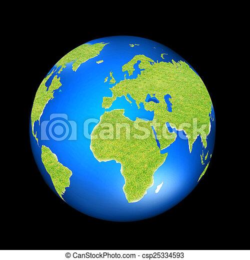 coberto, capim, terra verde - csp25334593