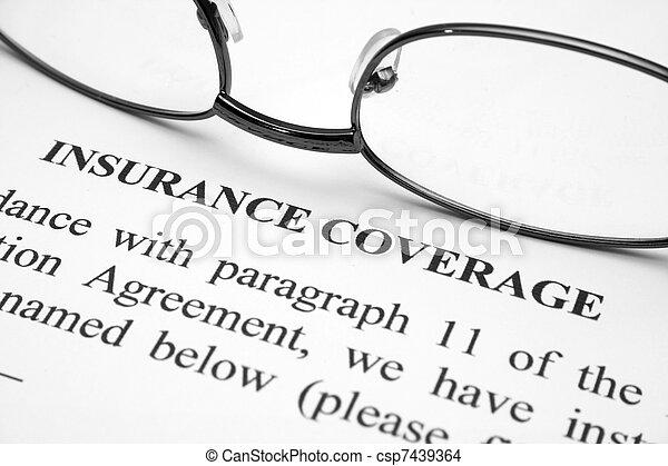 La cobertura del seguro - csp7439364