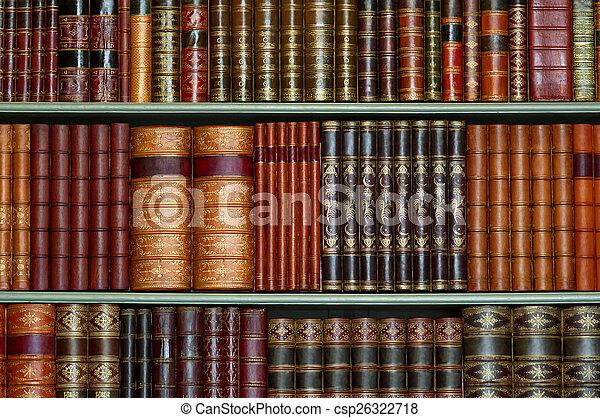 cobertura, difícil, antigas, biblioteca, vindima - csp26322718