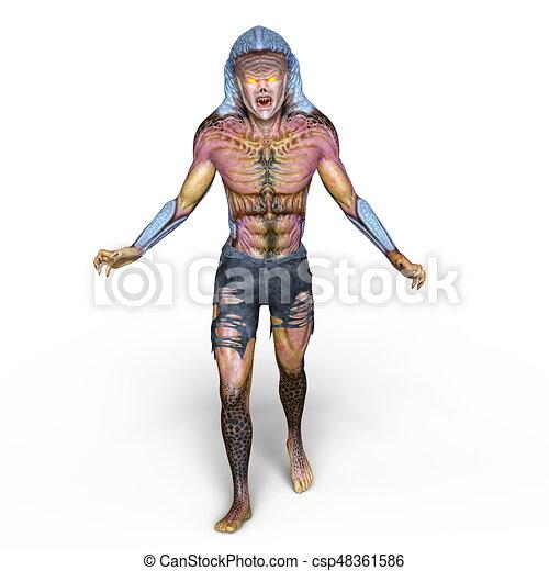 cobra man 3d cg rendering of a cobra man