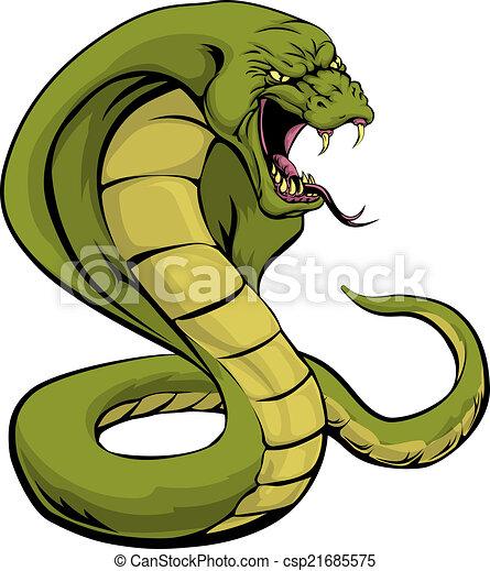 Cobra snake about to strike - csp21685575