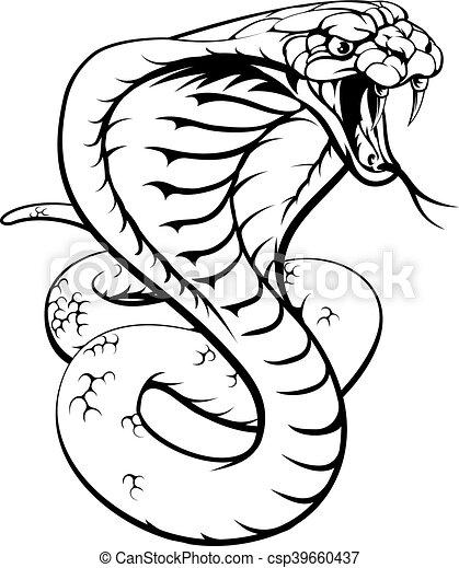 Cobra Illustrations And Clipart 4681 Cobra Royalty Free