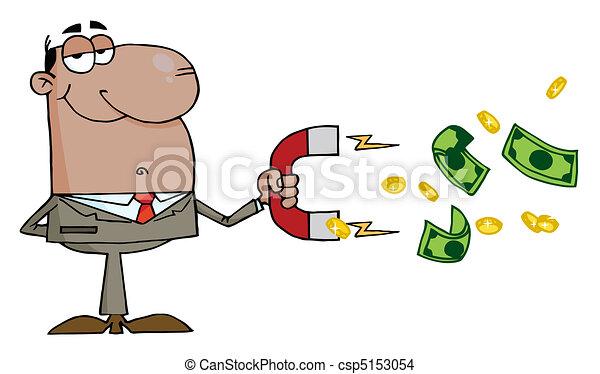 Grficos vectoriales EPS de cobrar hombre de negocios negro