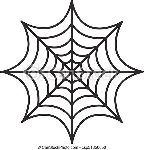 cobweb icon flat style isolated on white background vector rh canstockphoto com cobweb clipart