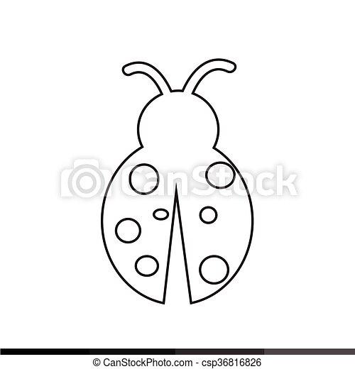 Coccinella Disegno Illustrazione Icona