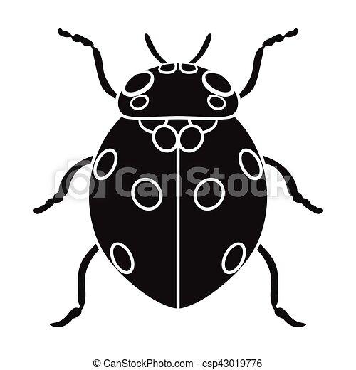 Coccinelle Symbole coccinelle, style, illustration., insectes, symbole, isolé, arrière