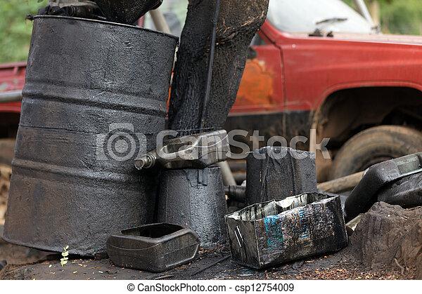 Contaminación de petróleo - csp12754009