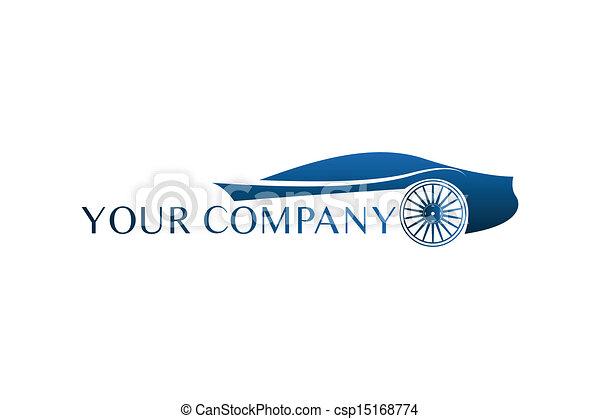 coche azul, logotipo - csp15168774
