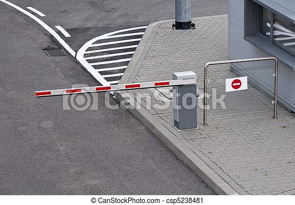 Barrera de estacionamiento - csp5238481