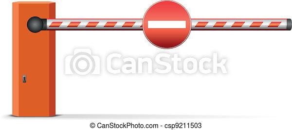 Barrera de coche - csp9211503