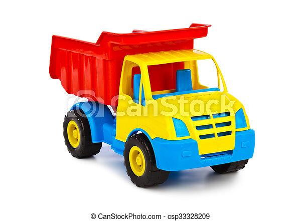 Un camión de juguete - csp33328209