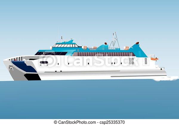 Ferry de coches Catamaran - csp25335370