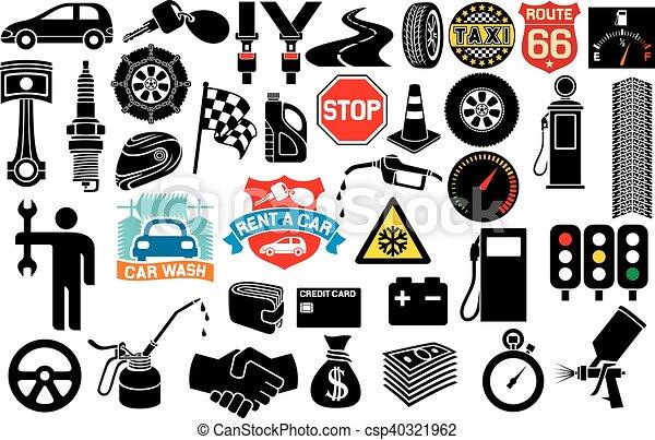 Colección de iconos de coches - csp40321962