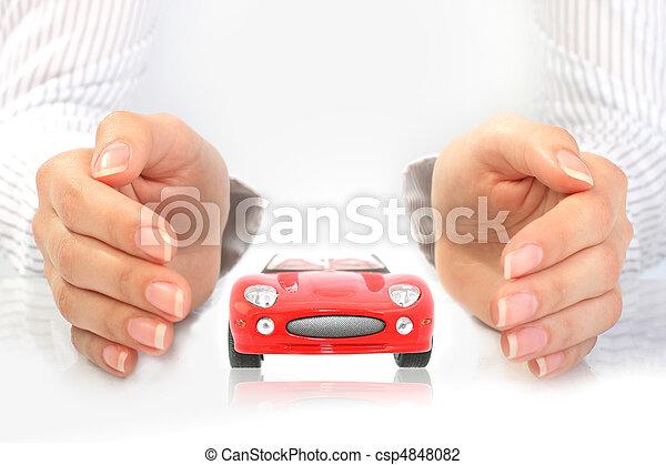 El concepto del seguro de autos. - csp4848082