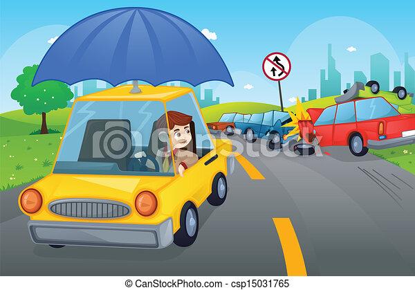 El concepto del seguro de autos - csp15031765