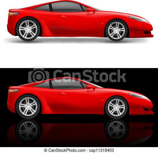 Coche deportivo rojo - csp11318403