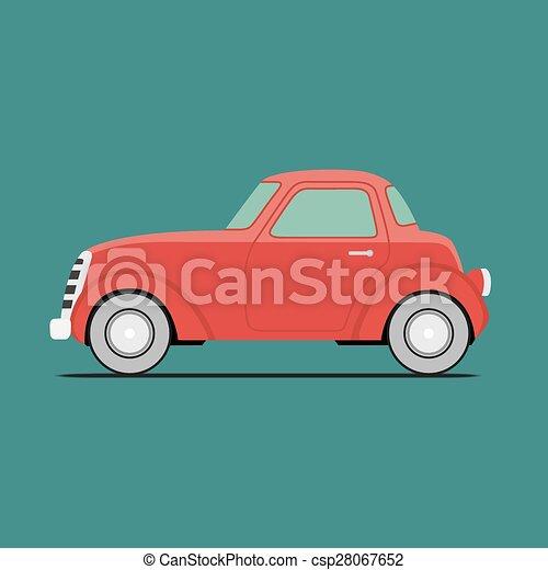 Coche deportivo rojo - csp28067652