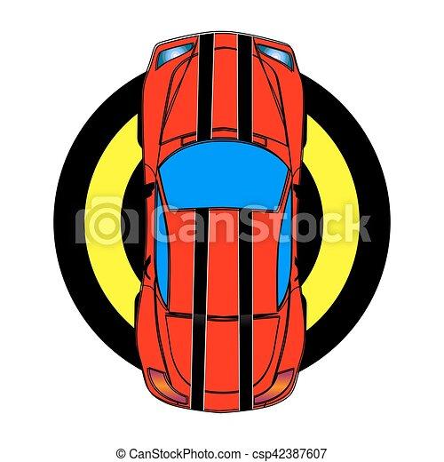 Coche deportivo rojo - csp42387607