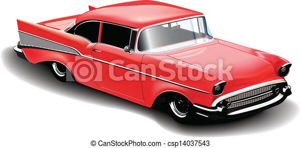 Coche deportivo rojo - csp14037543