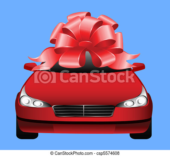 Auto deportivo rojo - csp5574608