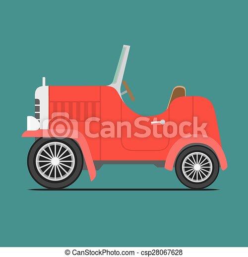 Coche deportivo rojo - csp28067628