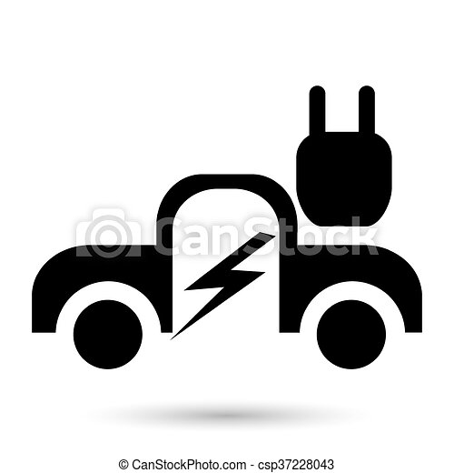 Coche eléctrico - csp37228043