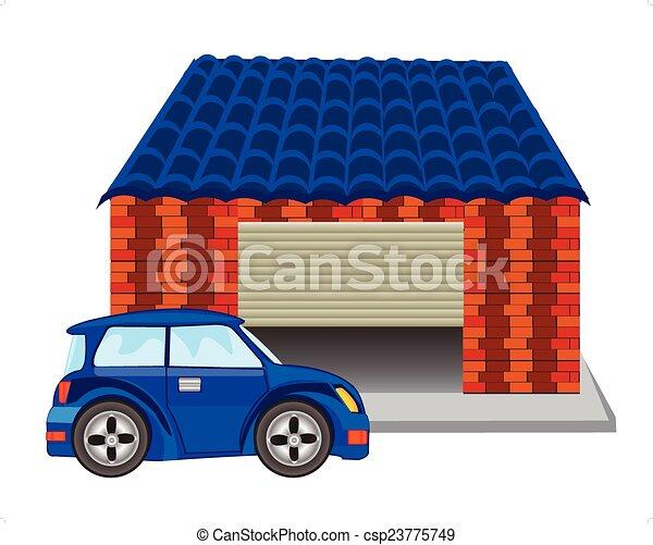Coche garaje pasajero garaje coche - Garaje de coches ...