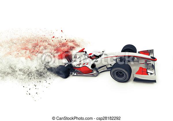 Un auto de carreras genérico súper rápido 3D - csp28182292