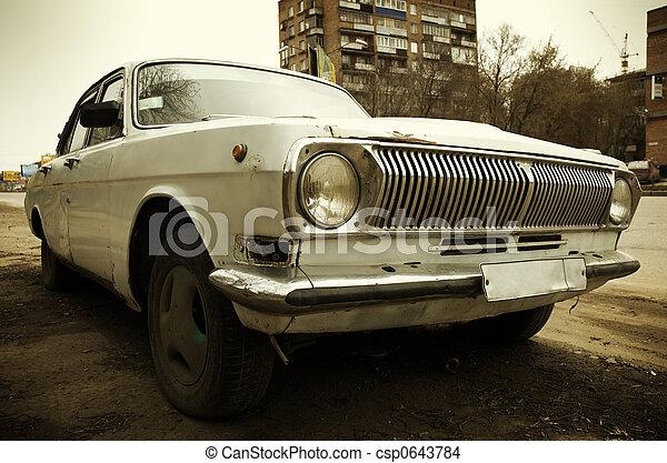 coche, grunge - csp0643784