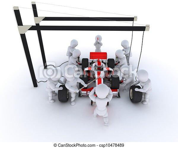 Parada de autos de carreras - csp10478489