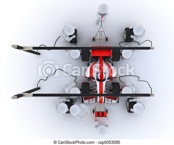 Parada de carreras de coches - csp9353585
