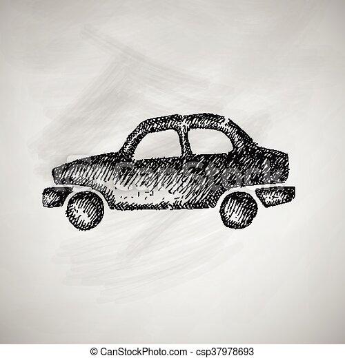 Icono del coche - csp37978693