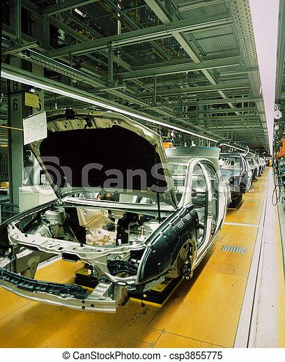 coche, línea, producción - csp3855775