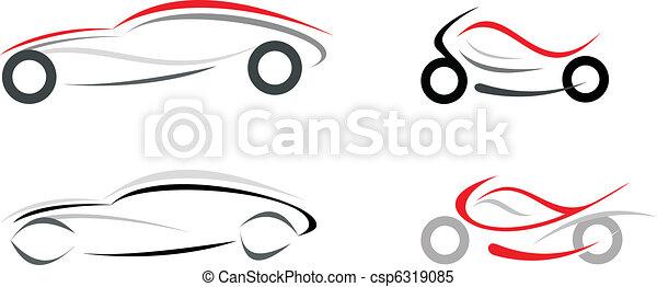 coche, motocicleta - csp6319085