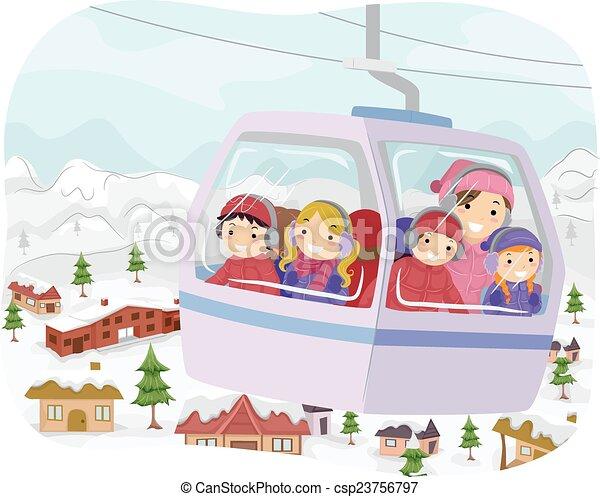 Stickman niños cable de coche - csp23756797