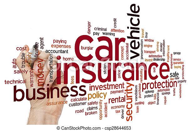 La palabra del seguro de coche es nula - csp28644653