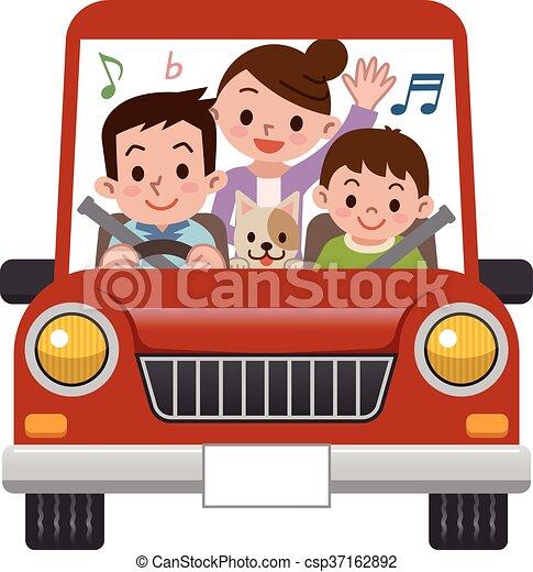 Coche Paseos Familia Música