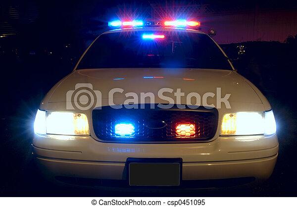 coche, policía, luces - csp0451095
