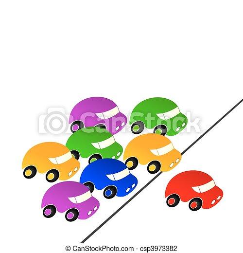 Carreras de autos. - csp3973382