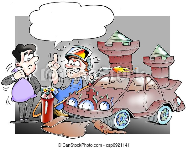 Mecánico reconstruyó un auto de chatarra a castillo - csp6921141